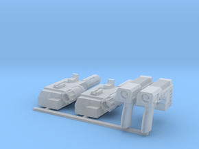 Commission 33 weapons in Smooth Fine Detail Plastic