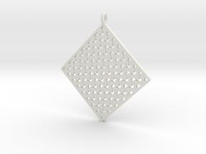 Pattern Pendant 1b in White Natural Versatile Plastic