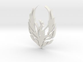 Bird Cendrawasih in White Natural Versatile Plastic