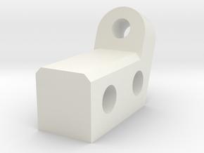 z-reinforcement for i3 3d printer clone in White Natural Versatile Plastic