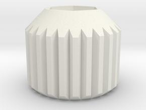 extruder-screw-wheel for i3 3d printer clone in White Natural Versatile Plastic