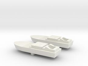 2 Shinyo Kamikazee boats in White Natural Versatile Plastic