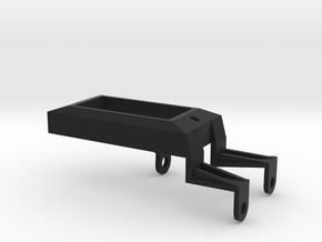 Tamiya Thundershot custom voltmeter mount in Black Natural Versatile Plastic