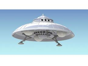 Adamski Modification Saucer Version II - Kit Parts in White Natural Versatile Plastic