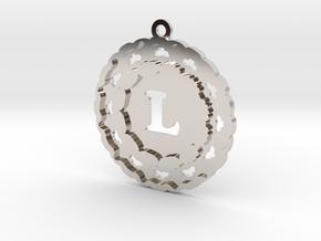 Magic Letter L Pendant in Rhodium Plated Brass