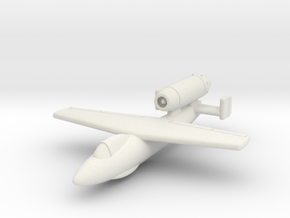 "(1:144) Junkers Ju EF126 ""Elli"" (disposable jet)  in White Natural Versatile Plastic"