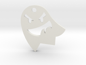 Little Cute Ghost Pendant in White Natural Versatile Plastic