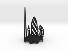 Tea Light London Skyline in Black Premium Versatile Plastic