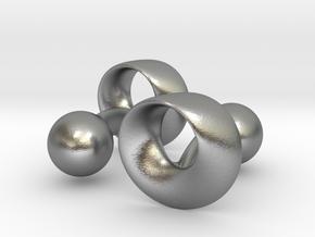 Möbius Cufflinks in Natural Silver