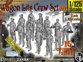 1/125 Wagon Lits Set002 in Smooth Fine Detail Plastic