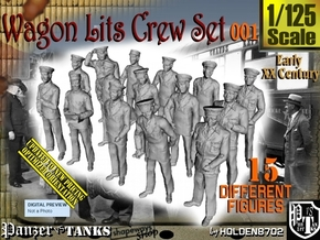 1/125 Wagon Lits Set001 in Smooth Fine Detail Plastic