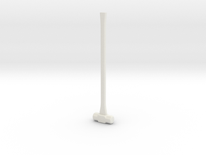 Sledge Hammer - 1:8 scale in White Natural Versatile Plastic