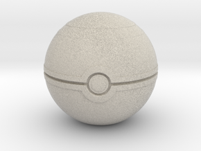 "Pokemon Luxury Ball 2"" desk decoration in Natural Sandstone"