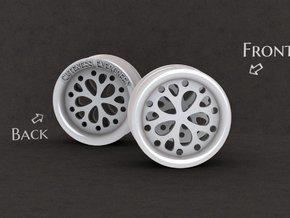 1 Inch Flower Cut Out Plug in White Processed Versatile Plastic