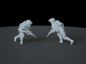 8 HO Modern Soldier (no base) in Smooth Fine Detail Plastic