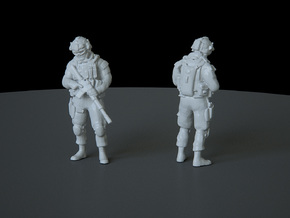 10 HO Modern Soldier (no base) in Smooth Fine Detail Plastic
