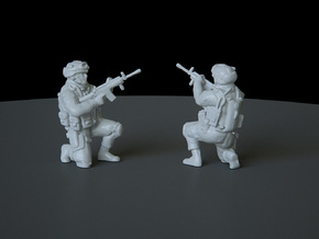 11 HO Modern Soldier (no base) in Smooth Fine Detail Plastic