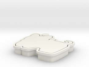 dog-cookiecutter in White Natural Versatile Plastic