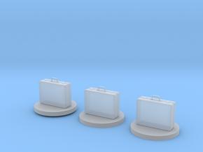 Cash locker suitecase tokens in Smooth Fine Detail Plastic