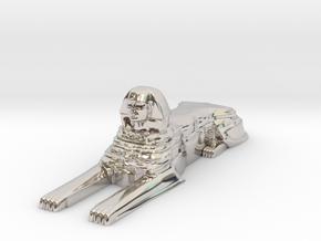 Sphinx in Rhodium Plated Brass
