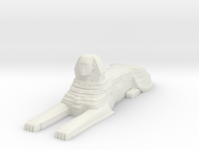 Sphinx in White Natural Versatile Plastic