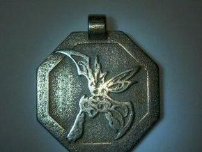 Scyther Pendant in White Strong & Flexible