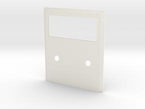King Hauler Daycab Panel, Lg Window, 2 5mmLights in White Processed Versatile Plastic