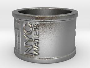 Handprint Pipe Ring (Metal) in Natural Silver: 5 / 49