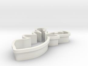 raindeer-cookiecutter in White Natural Versatile Plastic