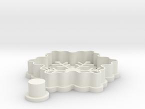 snowflake-cookiecutter in White Natural Versatile Plastic