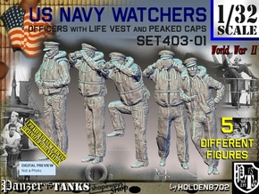 1/32 USN Watchers Set403-01 in White Natural Versatile Plastic