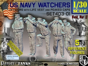 1/30 USN Watchers Set403-01 in White Natural Versatile Plastic