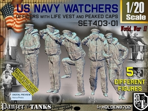1/20 USN Watchers Set403-01 in White Natural Versatile Plastic