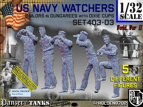 1/32 USN Watchers Set403-03 in White Natural Versatile Plastic