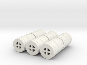 OO Gauge Steel Coil pack of 6 in White Natural Versatile Plastic
