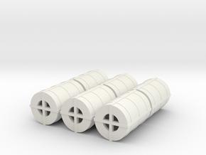 OO Gauge Steel Coil pack of 6 in White Natural Versatile Plastic