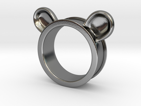 Bear ears ring size6 in Polished Silver