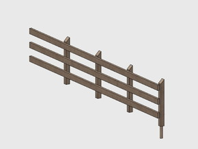 Wood Rail Fence - 4R (2 ea.) in White Natural Versatile Plastic: 1:87 - HO
