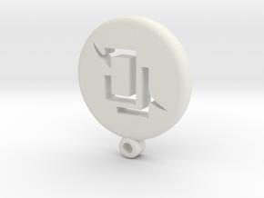 Fantasy Astrologian Icon Medallion in White Natural Versatile Plastic