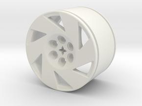 CC6 WHEEL (LEFT) in White Natural Versatile Plastic