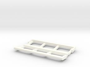 OO Gauge Platform Canopy in White Processed Versatile Plastic