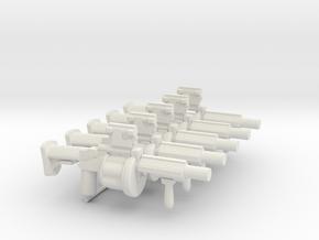 5x Milkor MGL for Playmobil figures in White Natural Versatile Plastic