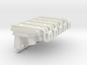 5x Scorpion Vz61 for Playmobil figures in White Natural Versatile Plastic