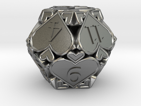 D12 Balanced - Hearts in Natural Silver