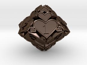 D10 Balanced [Beta] - Hearts in Polished Bronze Steel