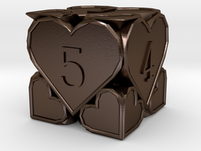 D6 Balanced [Beta] - Hearts in Polished Bronze Steel