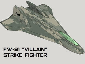 3mm Sci-Fi Strike Fighters (8pcs) in Smooth Fine Detail Plastic