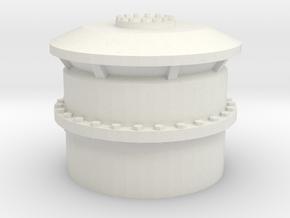 1/30 USN BB59 Deck Vent small in White Natural Versatile Plastic