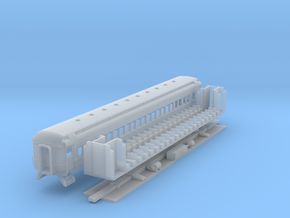 N-scale (1/160) PRR P70 Passenger Car  in Smooth Fine Detail Plastic
