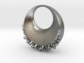 Lunautical Pendant in Natural Silver